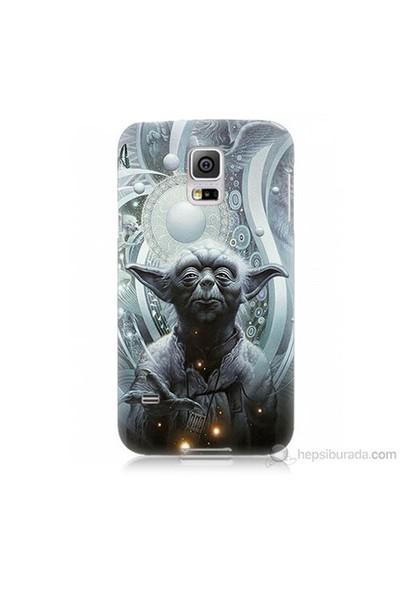 Teknomeg Samsung Galaxy S5 Mini Kapak Kılıf Güç Uyanıyor Yoda Baskılı Silikon