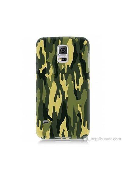 Teknomeg Samsung Galaxy S5 Mini Kapak Kılıf Kamufulaj Baskılı Silikon