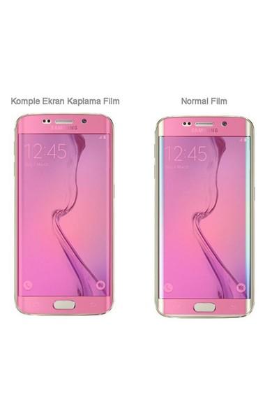 Microsonic Samsung Galaxy S6 Edge Kavisler Dahil Tam Ekran Kaplayıcı Şeffaf Koruyucu Film