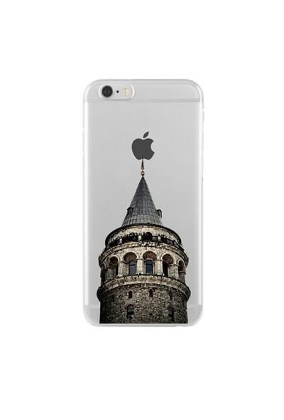 Remeto Samsung Galaxy Note 5 Transparan Silikon Resimli Galata Kulesi