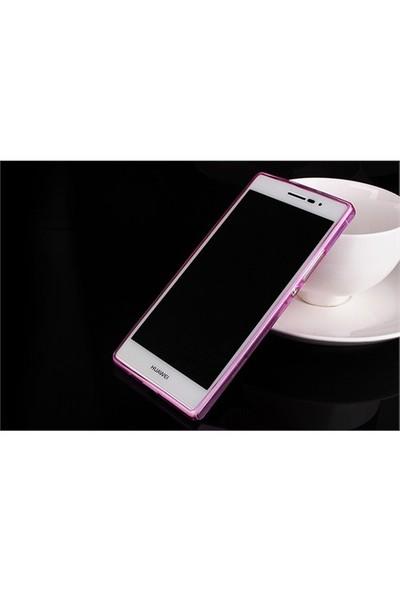 Microsonic Transparent Soft Huawei Ascend P7 Kılıf Pembe