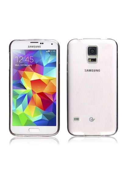 Microsonic Transparent Soft Samsung Galaxy S5 Kılıf Beyaz