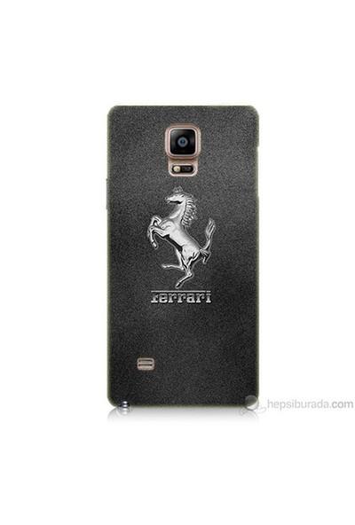 Teknomeg Samsung Galaxy Note 4 Kapak Kılıf Ferrari Baskılı Silikon