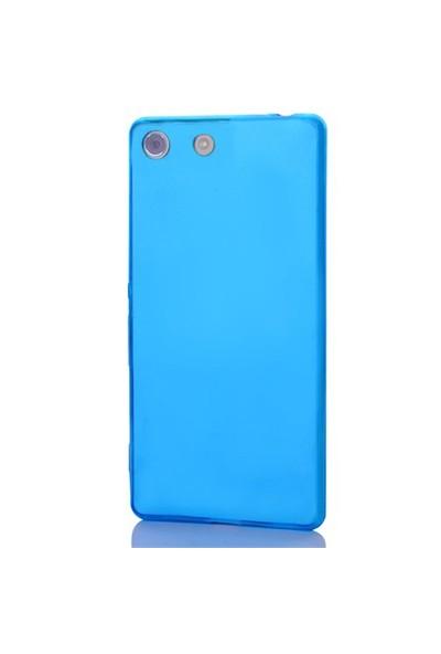 Gpack Sony Xperia Z5 Compact Kılıf 0.2Mm Mavi Silikon