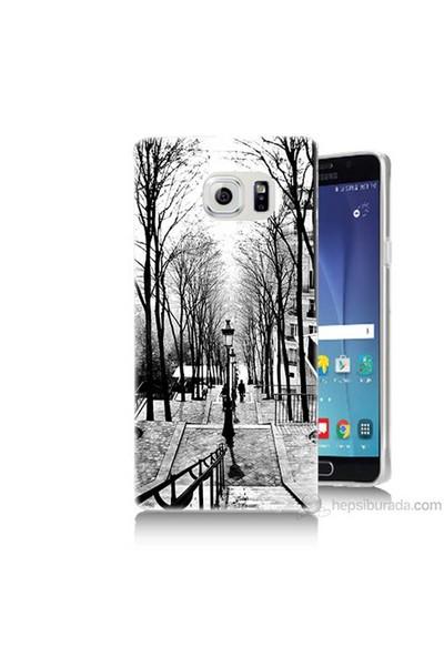 Teknomeg Samsung Galaxy Note 5 Kapak Kılıf Siyah Beyaz Baskılı Silikon