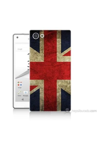 Teknomeg Sony Xperia Z5 Kapak Kılıf İngiltere Bayrağı Baskılı Silikon