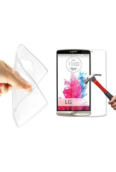 Blueway Lg G3 Mini Ekran Koruyucu + Şeffaf Silikon Kılıf