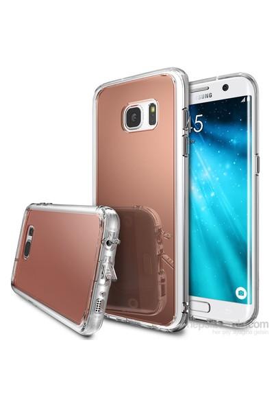 Ringke Mirror Fusion Galaxy S7 Edge Aynalı Kılıf Rose Gold - Extra Darbe Emici