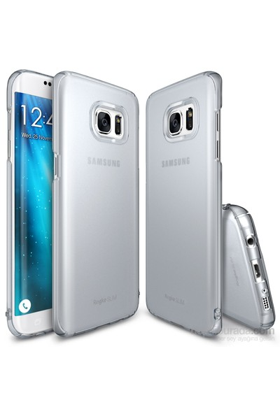 Ringke Slim Frost Galaxy S7 Kılıf Gray - 4 Tarafı Saran Tam Koruma İnce Buzlu Şeffaf