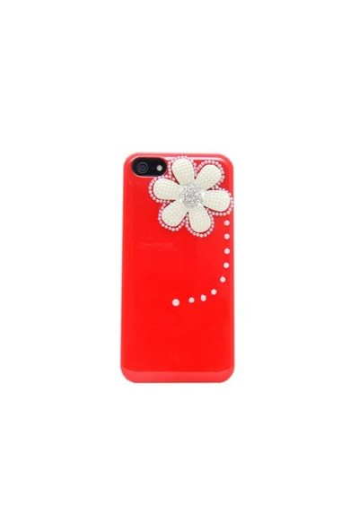Resonare Apple iPhone 5 Spring Boncuk Desenli Kirmizi Kapak