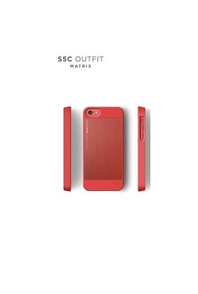 Elago Apple iPhone 5C S5 Outfit Series-Kırmızı (Ekran Koruyucu Hediye)