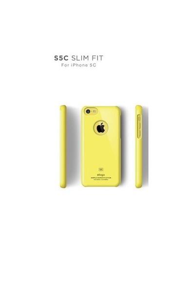 Elago Apple iPhone 5C S5 Slim Fit Series-Sarı (Ekran Koruyucu Hediye)