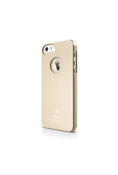Elago Apple iPhone 5/5S Ultra İnce Kılıf Altın (Ekran Koruyucu Hediye)