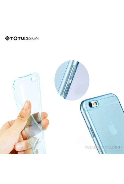 Totu Design Apple iPhone 6 Soft Mavi Kılıf