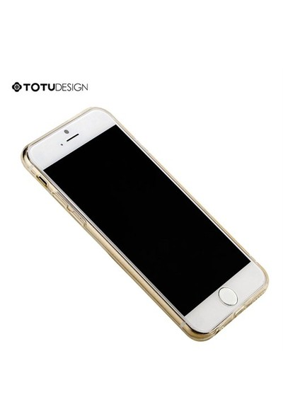 Totu Design Apple iPhone 6 Plus Soft Altın Kılıf