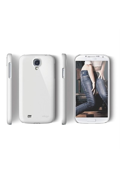 Elago Samsung Galaxy S4 G7 Slim Fit 1 Kılıf Beyaz