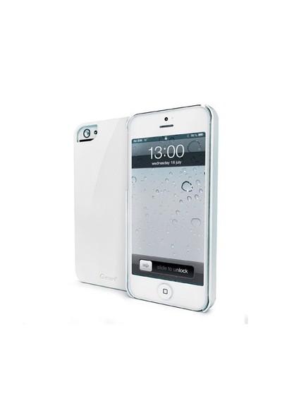 Muvit Glossy Sert iPhone 5/5s Kılıfı (Beyaz)