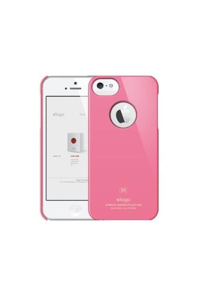 Elago Apple iPhone 5/5S S5 Slim Fit Series Pembe (Ekran Koruyucu Hediye)