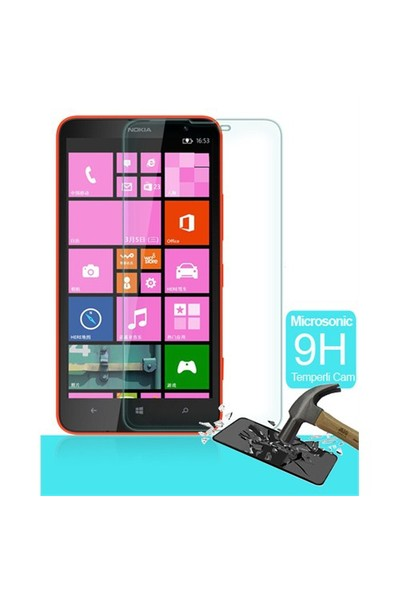 Microsonic Temperli Cam Ekran Koruyucu Nokia Lumia 1320 Film