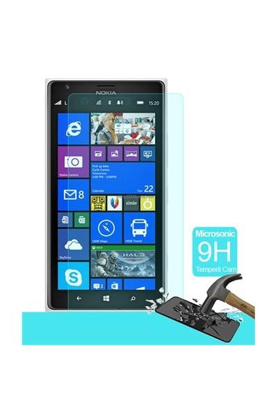 Microsonic Temperli Cam Ekran Koruyucu Nokia Lumia 1520 Film