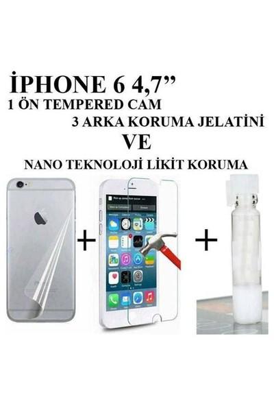 Markacase Apple İphone 6 4,7 Tempered+Arka Jelatin+Nano Koruma