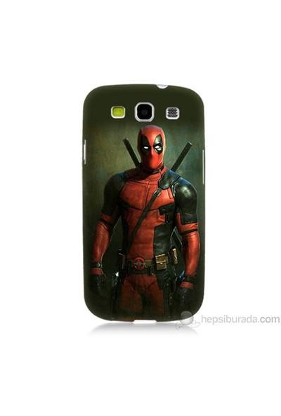 Teknomeg Samsung Galaxy S3 Kapak Kılıf Deadpool Baskılı Silikon