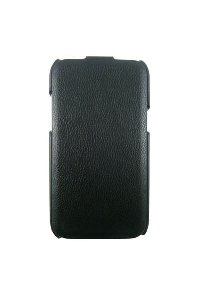 Kucipa Samsung Note2 N7100 Siyah Kapaklı Deri Kılıf