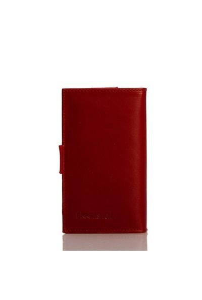 Bigg Fashion Gerçek Deri Kırmızı2 Telefon Kılıfı