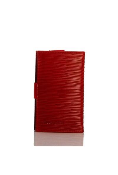 Bigg Fashion Gerçek Deri Kırmızı1 Telefon Kılıfı