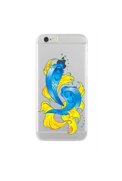 Remeto Samsung Galaxy Note 5 Transparan Silikon Resimli Balık Borçu