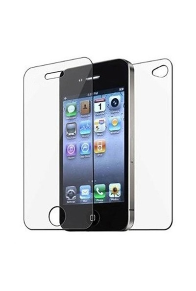 Sonmodashop Apple iPhone 4 Ön Arka Temperli Cam Ekran