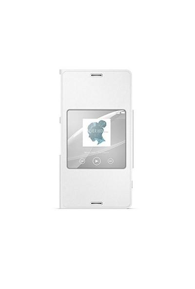 Sony SCR26 Xperia Z3 Compact Akıllı Pencere Fonksiyonlu Style Beyaz Kılıf