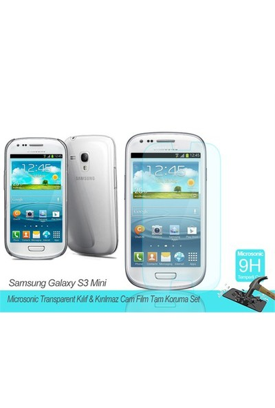 Microsonic Samsung Galaxy S3 Mini Transparent Kılıf & Film Tam Koruma Set