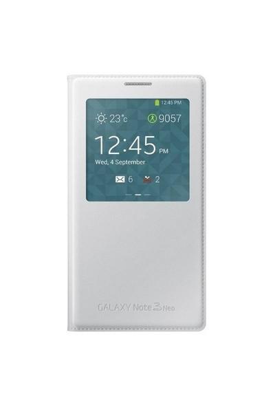 Markaawm Samsung Galaxy Note 3 Neo Kılıf S-View Uyku Modlu Çipli
