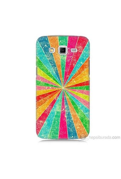 Teknomeg Samsung Galaxy Grand 2 Kapak Kılıf Renk Efekti Baskılı Silikon