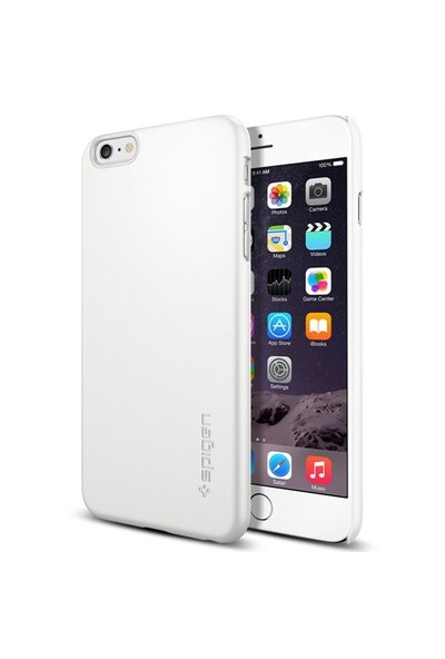 Spigen Apple 6s Plus/6 Plus Kılıf Thin Fit Serisi Shimmery White (PET) - 11101