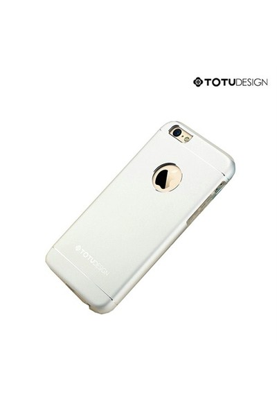Totu Design Apple iPhone 6 Plus Jaeger Series Metal Arka Kapak Gümüş