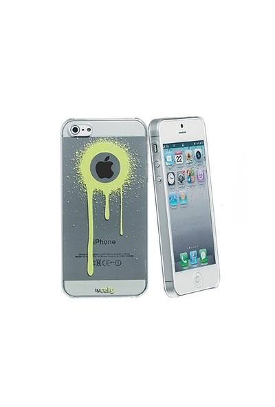 Celly Graffiti Drips iPhone 5/5s Kılıfı (Beyaz)