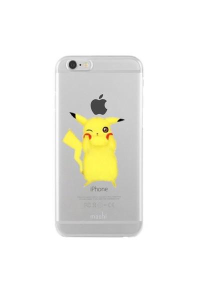 Remeto Samsung Galaxy J1 Transparan Silikon Resimli Pikachu Tasarımlı