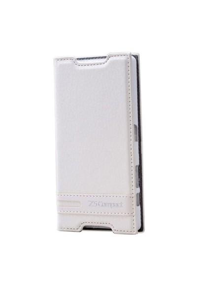 Teleplus Sony Xperia Z5 Compact Mini Mıknatıslı Kılıf Beyaz