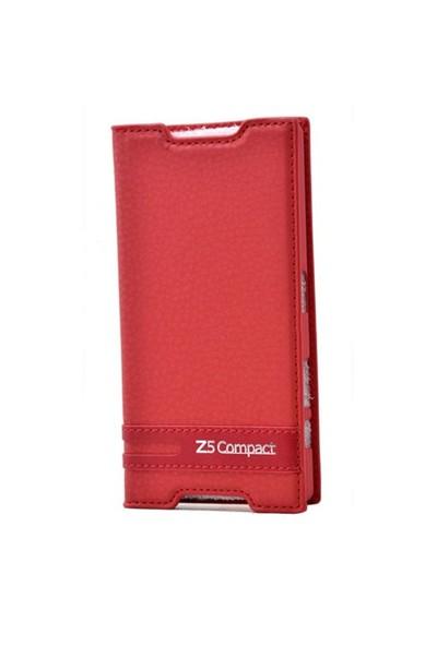 Teleplus Sony Xperia Z5 Compact Mini Mıknatıslı Kılıf Kırmızı
