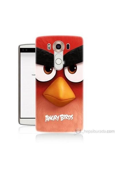 Teknomeg Lg V10 Kapak Kılıf Angry Birds Baskılı Silikon