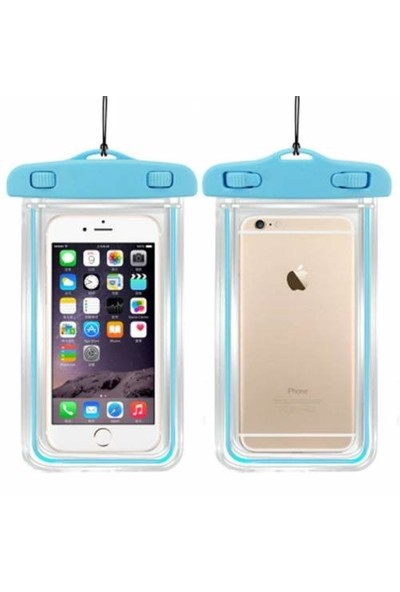 Signor Hobby İphone 6 6S Su Geçirmez Telefon Kılıfı 5 Renk Su Altı Video Fotoğraf Turkuaz
