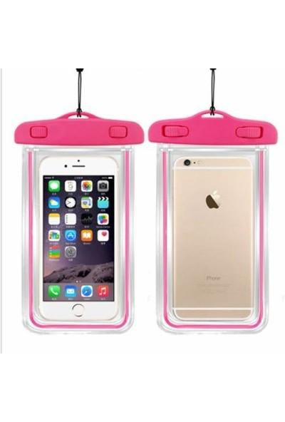 Signor Hobby İphone 6 6S Plus Su Geçirmez Telefon Kılıfı 5 Renk Su Altı Video Fotoğraf Pembe