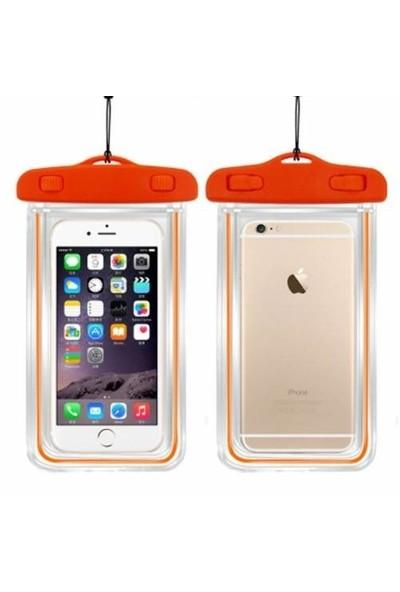 Signor Hobby İphone 6 6S Plus Su Geçirmez Telefon Kılıfı 5 Renk Su Altı Video Fotoğraf Turuncu