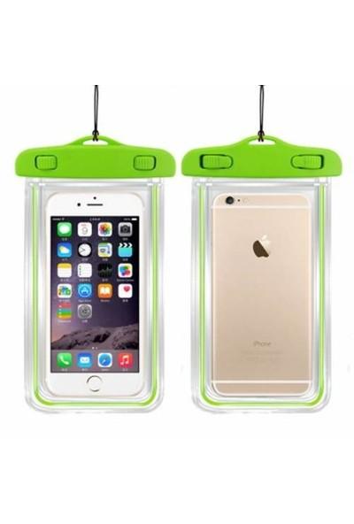 Signor Hobby Galaxy S7 Edge Su Geçirmez Telefon Kılıfı 5 Renk Su Altı Video Fotoğraf Yeşil