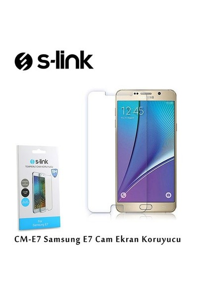 S-Link Cm-E7 Samsung E7 Cam Ekran Koruyucu