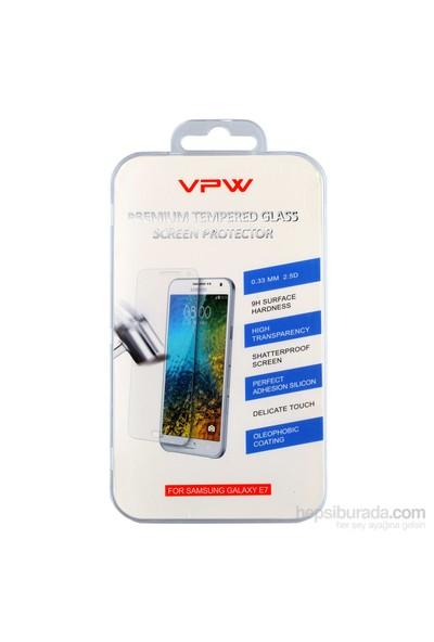 VPW Samsung Galaxy E7 Tempered Glass Ekran Koruyucu