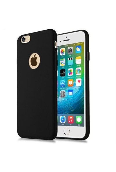 Takıcadde Apple iPhone 6 Plus - Ultra Thin Mat Siyah Tpu Kılıf