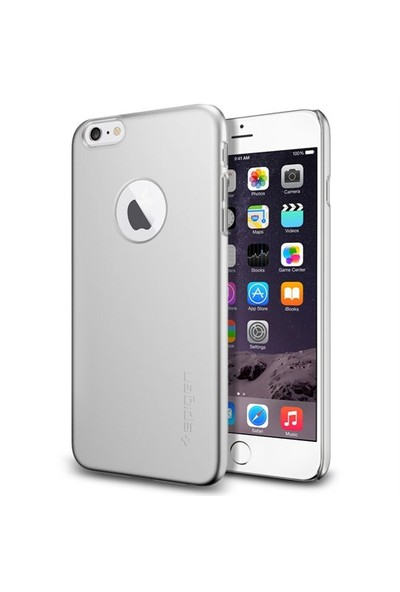 Spigen Apple iPhone 6/6s Plus Kılıf Thin Fit A Serisi Satin Silver (PET) - 10888